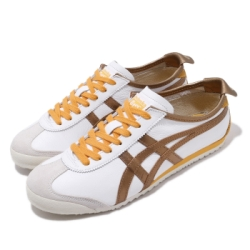 Onitsuka Tiger 休閒鞋 Mexico 66 復古 低筒 男女鞋 OT 鬼塚虎 經典 皮革 穿搭 情侶鞋 棕 黃 1183A788100