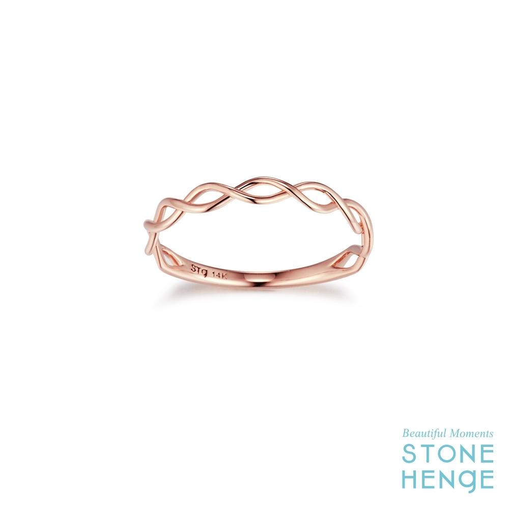 STONEHENGE 斯通亨奇 14K玫瑰金波浪造型戒指