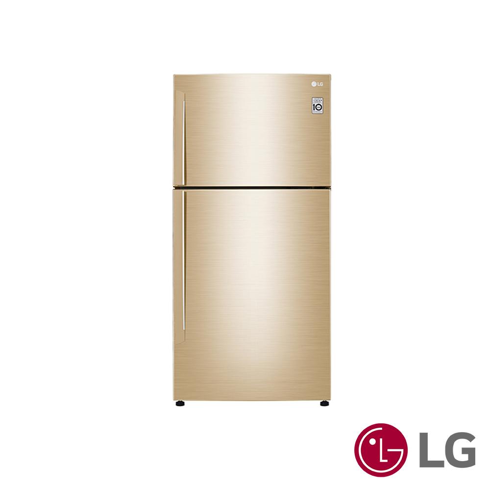 LG  496公升Smart 變頻上下門冰箱(光燦金)GN-BL497GV