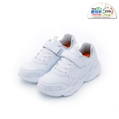 FILA KIDS 大童MD輕量慢跑鞋-白色 3-J803T-111