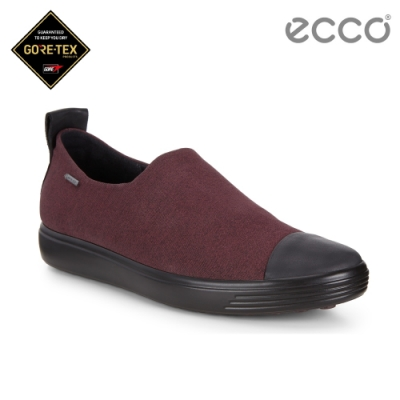 ECCO SOFT 7 W 輕盈套入簡約休閒鞋 女-紫紅色