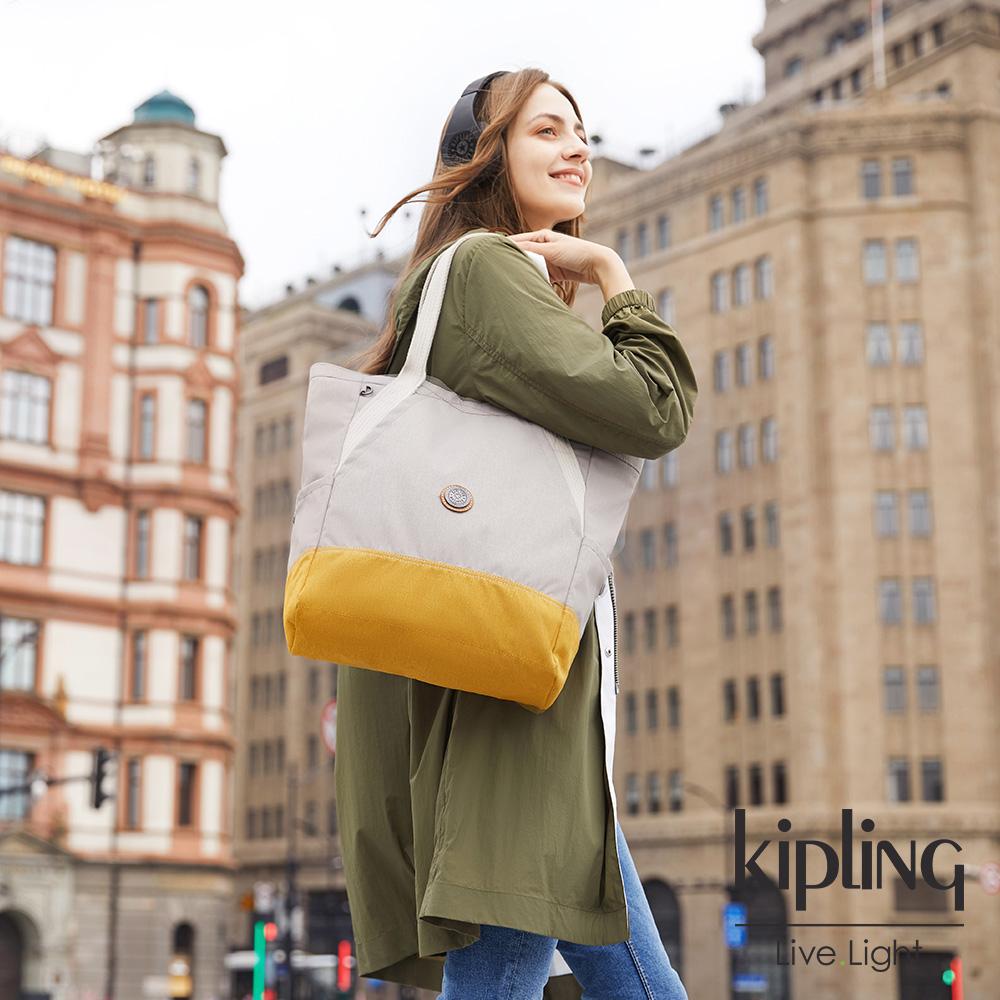 Kipling 邊緣地帶秋日活潑撞色大容量托特包-ALMATO-EDGELAND系列