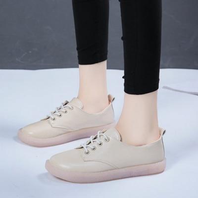 韓國KW美鞋館 話題單品輕巧透氣小白鞋-杏