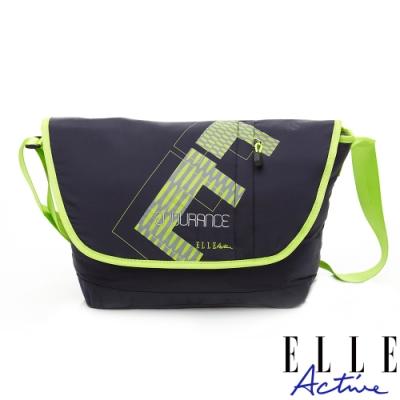 ELLE Active 自信系列-郵差包/斜背包/側背包-深藍色