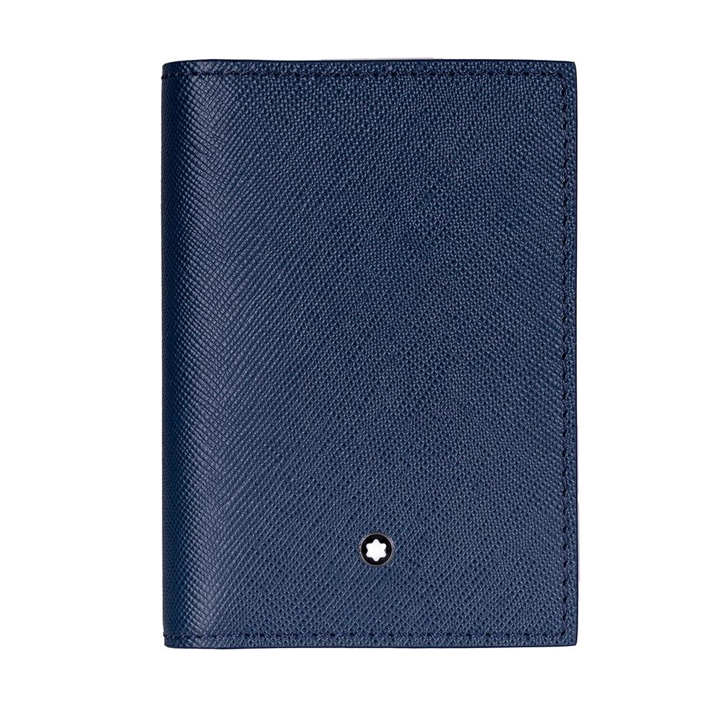Montblanc 萬寶龍 匠心系列牛皮厚型名片夾-靛藍色