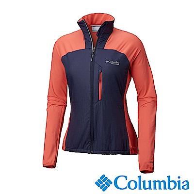 Columbia哥倫比亞 女款-野跑Omni-Shield 防潑快排外套-粉紅