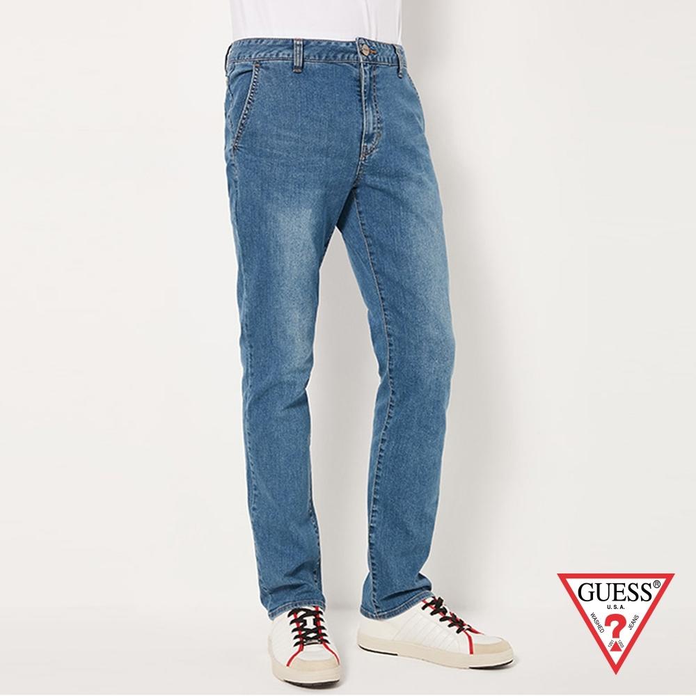 GUESS-男裝-美式經典直筒牛仔長褲-藍 原價4990