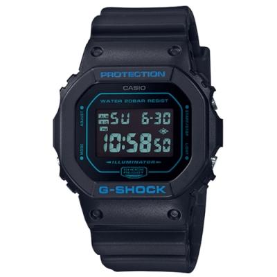 CASIO卡西歐G-SHOCK系列 經典手錶(DW-5600BBM-1)-黑/42.8mm