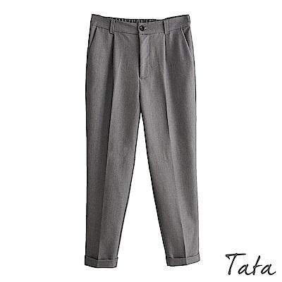 褲腳反摺西裝褲 共三色 TATA-(S~XL)