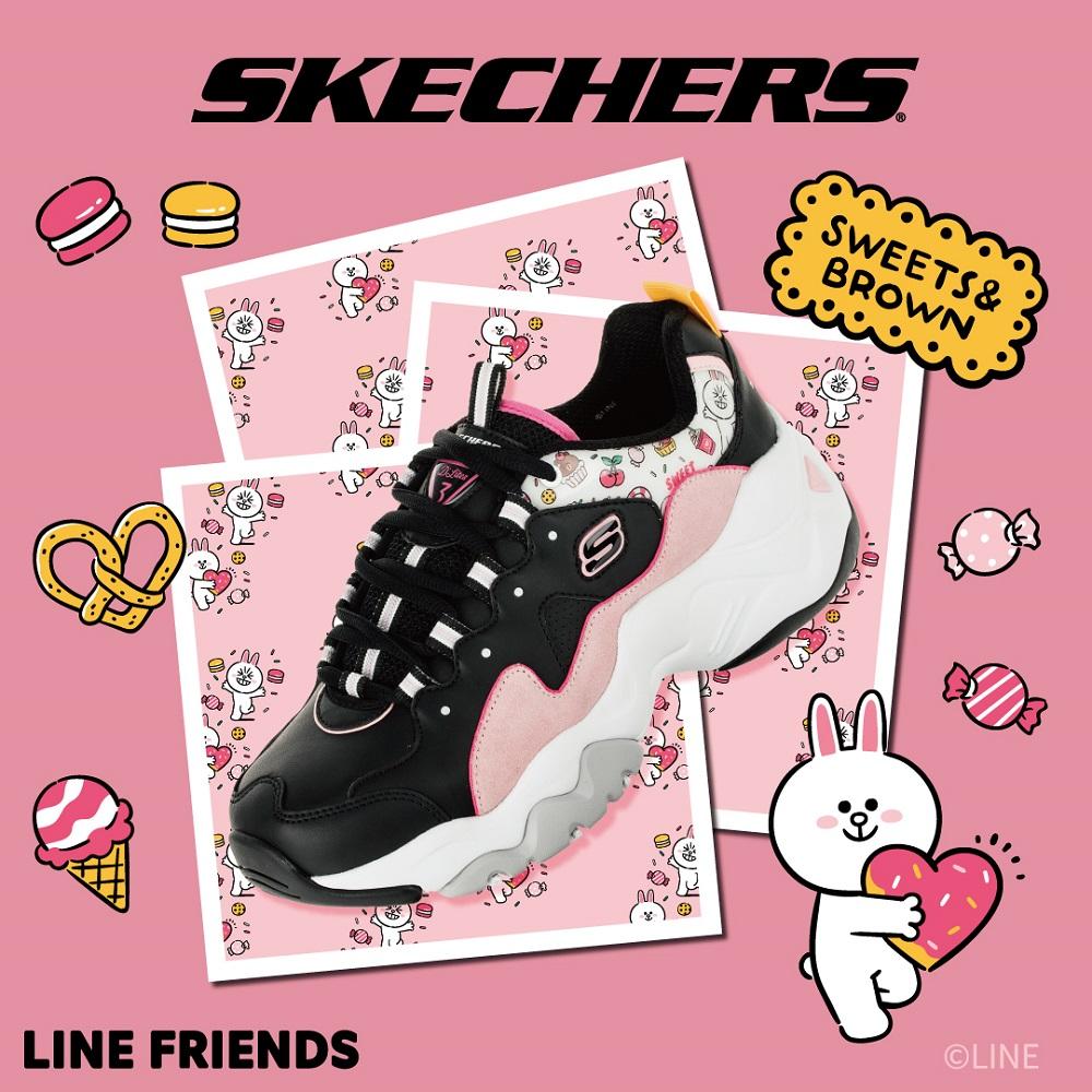 SKECHERS 女休閒系列 D LITES 3.0 LINE FRIENDS 兔兔限定款 - 66666255BKPK