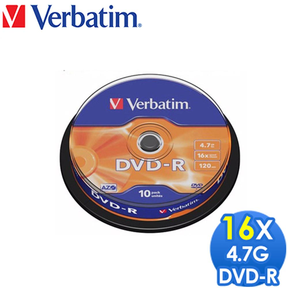 Verbatim 威寶 16X DVD-R 光碟片 10片盒裝