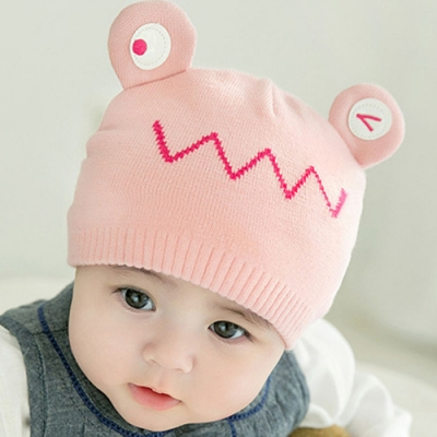 iSFun 圓眼蝸牛 嬰幼兒保暖毛線棉帽 3色可選