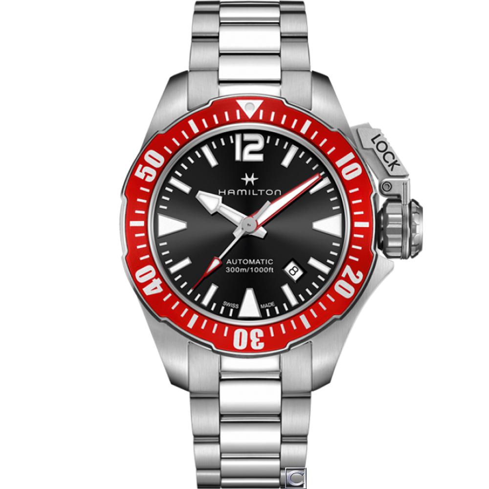 Hamilton Khaki  卡其海軍系列蛙人機械錶(H77725135)