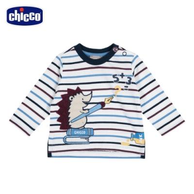 chicco-上學趣-小刺蝟條紋長袖上衣