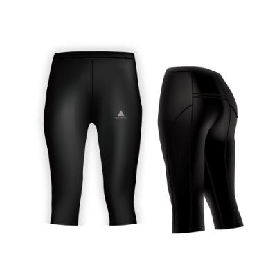 【AREX SPORT】後口袋七分提臀壓力褲 中度運動 瑜珈 健身 重訓