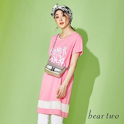 beartwo 英文字洞洞造型長版T上衣(三色)