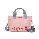 ELLE Active 熱愛追隨系列-手提側背包-粉紅色