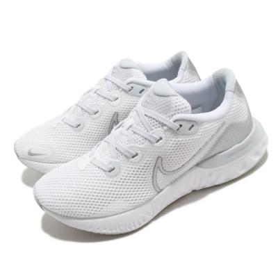 Nike 慢跑鞋 Renew Run 運動 女鞋 輕量 透氣 舒適 避震 路跑 健身 白 銀 CK6360003