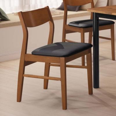 H&D 特瑞莎黑皮餐椅