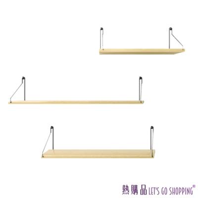 LGS 壁飾置物架 - 一字北歐風 (30cm - 1片入)