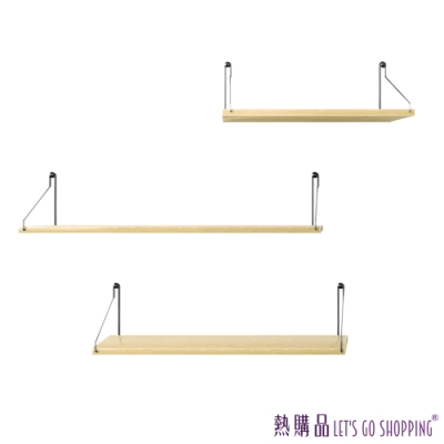 LGS 壁飾置物架 - 一字北歐風 (30cm - 2片入)