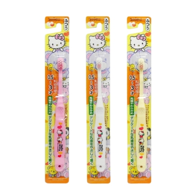 日式卡通兒童牙刷-Hello Kitty-0.5~3才-6入組