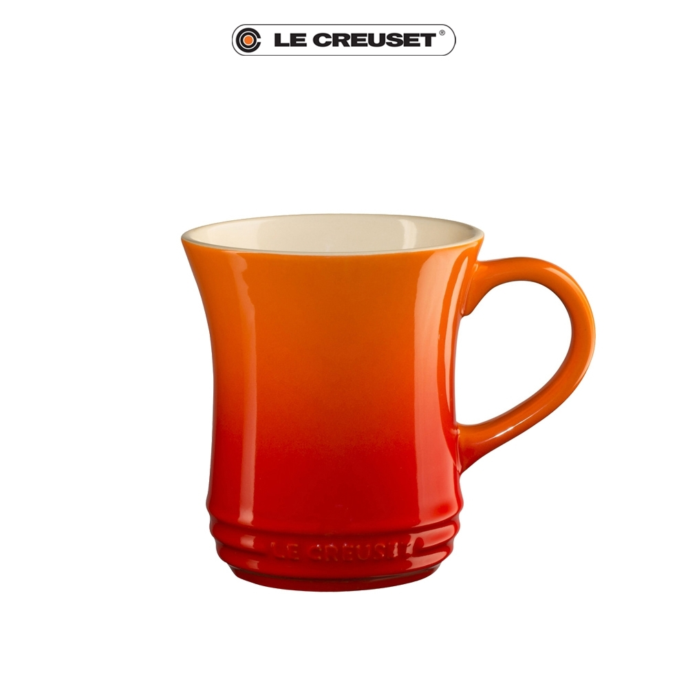 [結帳7折]LE CREUSET瓷器小馬克杯280ML(火焰橘)