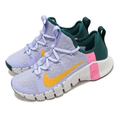 Nike 訓練鞋 Free Metcon 3 運動 女鞋 健身房 襪套 支撐 避震 穩定 球鞋 淺藍 黃 CJ6314564