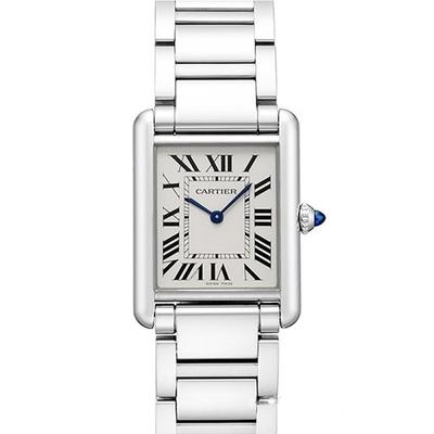 CARTIER 卡地亞 TANK MUST(WSTA0052)新經典鏈帶中型腕錶x33.7x25.5mm