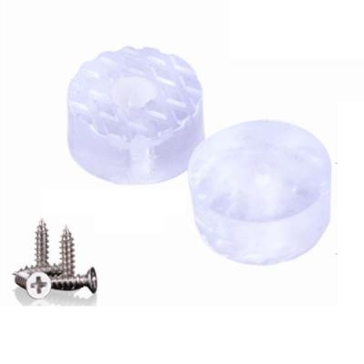 HA006 (20入) 圓形透明止滑腳墊/矽膠墊 (附螺絲)