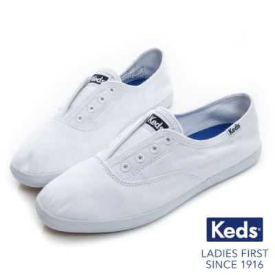Keds 品牌經典系列之水洗休閒便鞋 白色