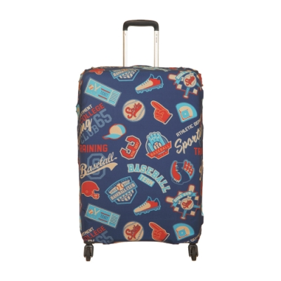 【OUTDOOR】行李箱保護套-棒球-XL ODS19B04XLBB