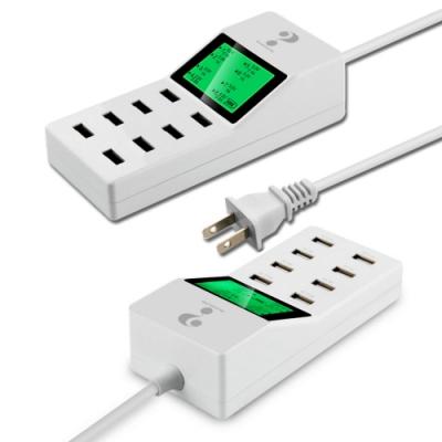 8P-LE1 八孔輸出極速8A供電液晶顯示USB充電器