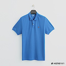 Hang Ten - 男裝 - 簡約素面POLO杉 - 藍