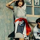 FILA #漢城企劃 女款針織洋裝-麻灰 5DRT-1417-MY