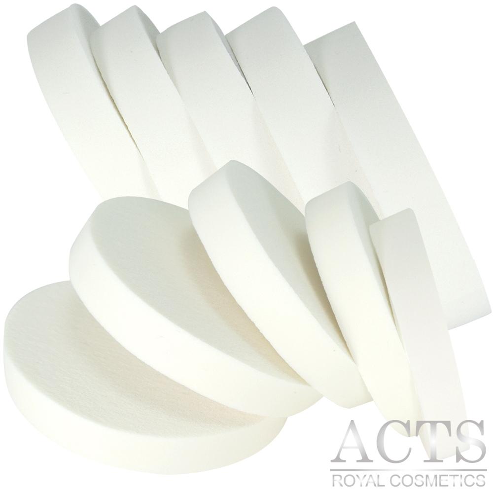 【滿千8折】ACTS維詩彩妝 乳膠海綿 大圓形化妝海綿 10片入