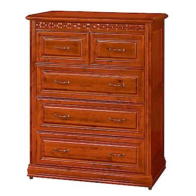綠活居 艾比頌時尚3.5尺實木五斗櫃/收納櫃-105x53.1x129.9cm-免組