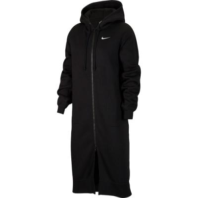 NIKE 外套 連帽長板外套 刷毛 女款 黑 CU7071010 AS W NSW LONG FZ FLC TREND