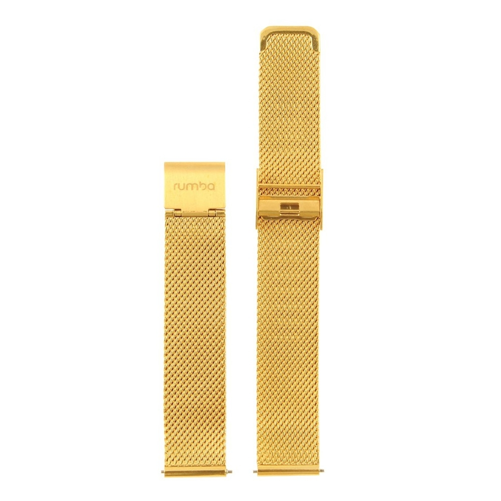 Rumba Time 美國紐約手錶 金色錶扣米蘭替換錶帶 16mm