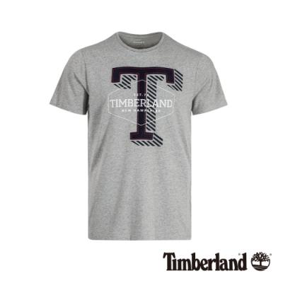 Timberland 男款中麻灰休閒棉質T恤|A1W4E