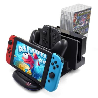 Nintendo任天堂-Switch專用 主機手把充電收納架