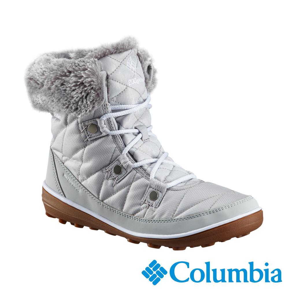 Columbia哥倫比亞 女款-Omni-Tech 防水鋁點保暖雪靴-銀灰