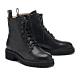 短靴 HELENE SPARK 簡約率性態度全真皮綁帶厚底短靴-黑 product thumbnail 1