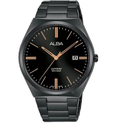 ALBA雅柏簡約時尚手錶(AS9J59X1)-黑