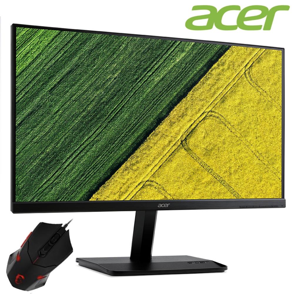 (超值組) Acer KA241Y 24型護眼窄邊框電腦螢幕+MSI微星 DS B1攔截者砝碼電競滑鼠