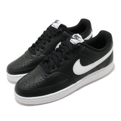 Nike 休閒鞋 Court Vision 運動 女鞋 基本款 簡約 舒適 穿搭 皮革 黑 白 CD5434001