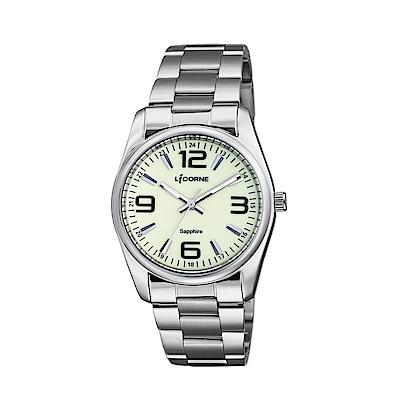 LICORNE 力抗錶 都會款 簡約風格手錶 白×銀/36mm