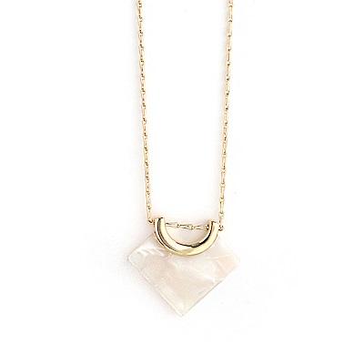 LOVERS TEMPO加拿大品牌 白色天秤吊墜 金色項鍊