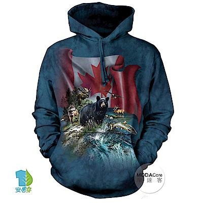 摩達客 美國The Mountain 加拿大動物群 中性套頭長袖連帽T恤