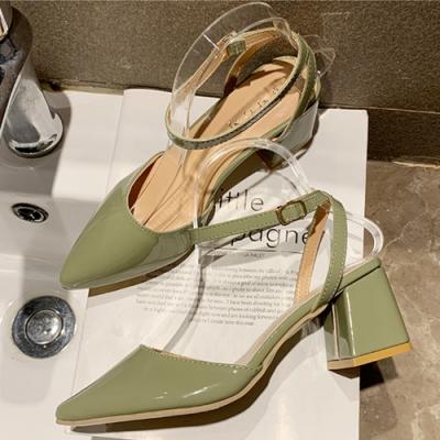 KEITH-WILL 時尚鞋館女神同款歐美主流質感小跟鞋-綠